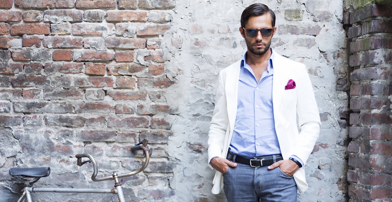 shirts from Gabicci & Olymp, trousers from Meyer